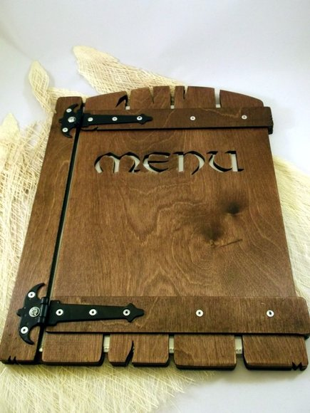 Holz Menu design A5