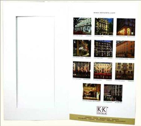Mehrseitige gedrukte Speisekarte mit Passepartout-inklusive Grafik