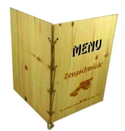 Holz Menu A4-Kiefer