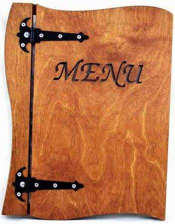 Holz Menu A5