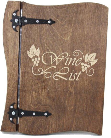 Weinkarte aus echtem Holz